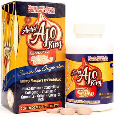 Artri Ajo King Ortiga y Curcuma Tabletas para Dolor