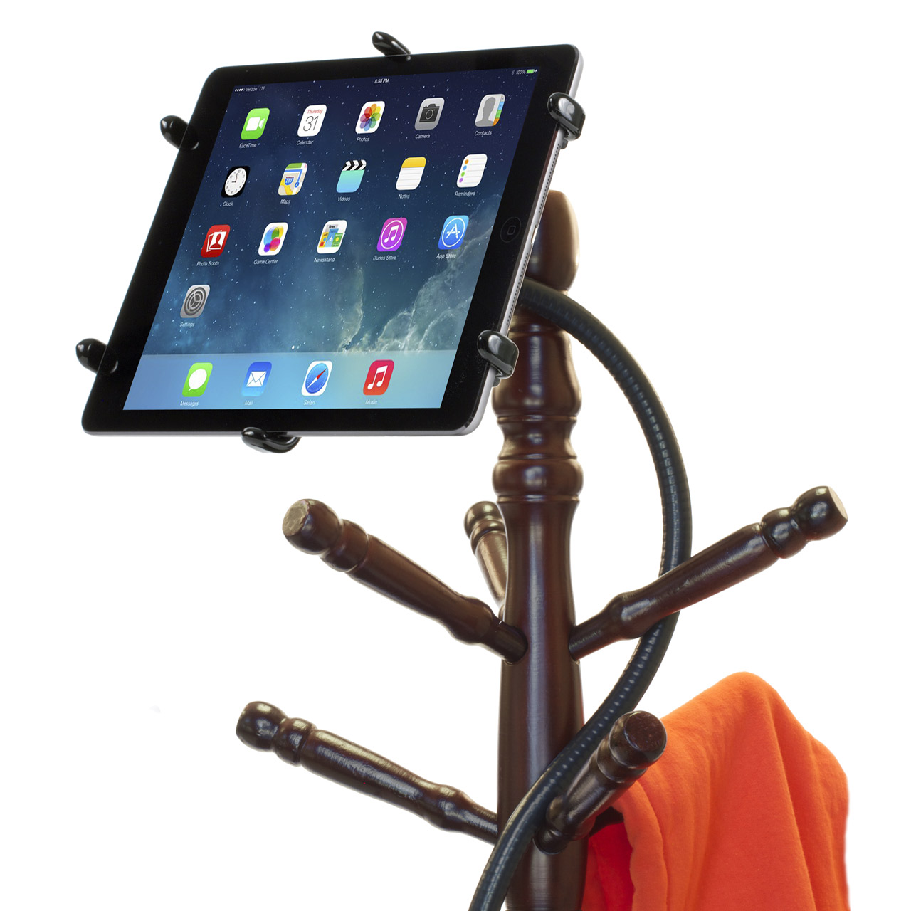 PED4-Coil IPA10 iPad Stand Flexible Gooseneck & Pivoting Holder