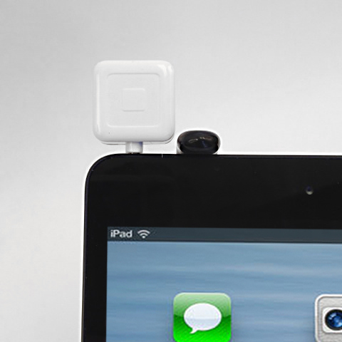 Square Credit Card Reader with the IPM10 Holder