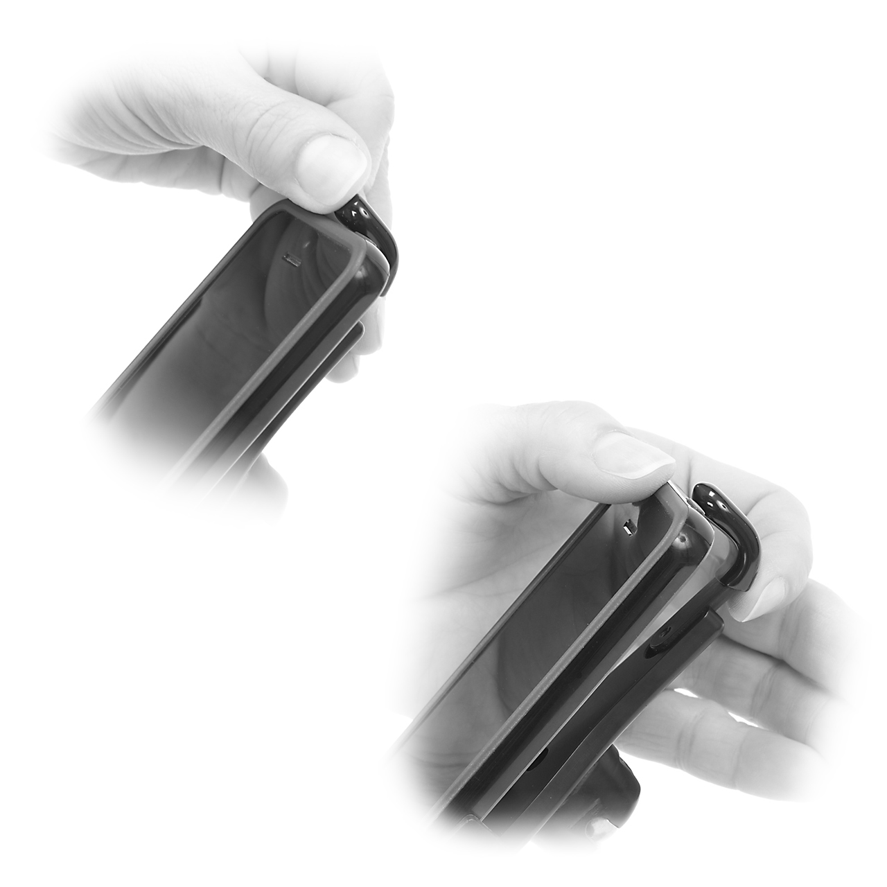 Once adjusted to your configuration, a snap like removal and insertion to and from the holder is simple.