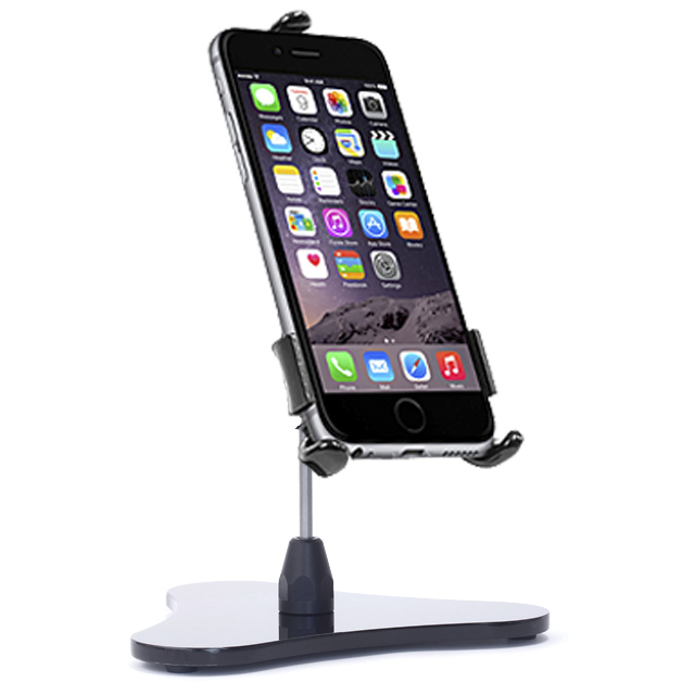 iPhone Stand & Tripod Mount Shown with iPhone 6 Plus, 6s Plus, 7 Plus