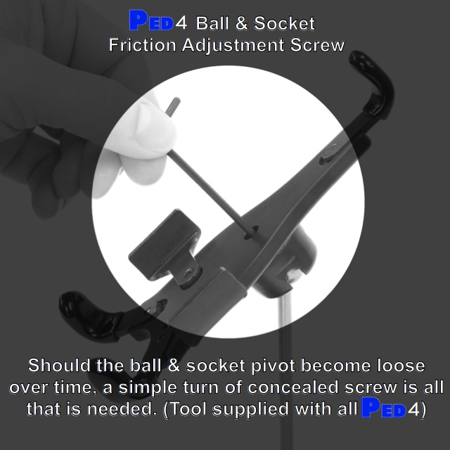 PED4 Ball & Socket Friction Adjustment