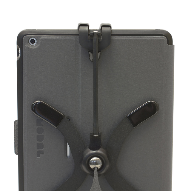 Grapple S4 shown with long strap on iPad Air for portrait position with a case