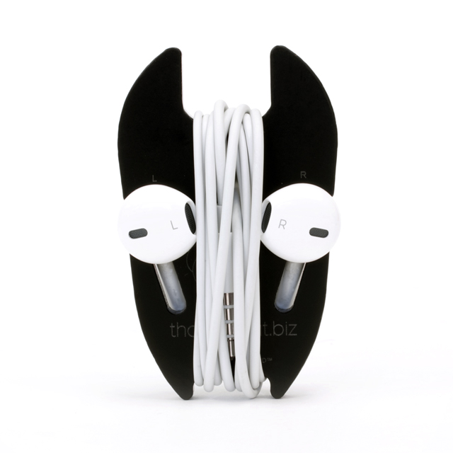 Devil Head front view with smooth wrapped earbuds