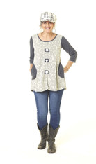 Both Sides Now Tunic (Cream)