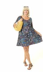 Twiggy Dress (patchouli/short sleeve)