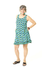 Twiggy Tank Dress (blue deco)