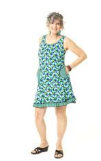 Twiggy Tank Dress (blue deco)
