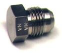 Plug Flared Tube Fitting, Aluminum, O.D. 3/16, Thread Size 3/8-24 - AN806-3D