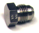 Plug Flared Tube Fitting, Steel, O.D. 3/8,  Thread Size 9/16-18 - AN806-6