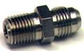 Nipple, Flared Tube and Pipe Thread, O.D. 1/4, Thread Size 1/8 - AN816-4D