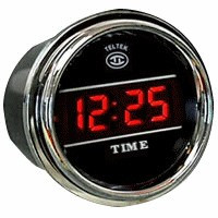 Digital Clock gauges for car & trucks best view in Red