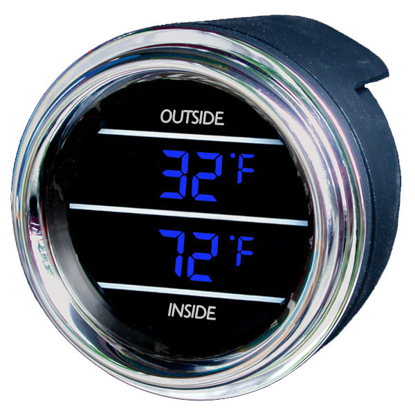 Inside Outside Air Temperature Gauge For Trucks And Cars