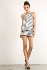Cotton Striped Shorts