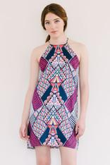 Art Deco Printed Dress