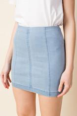 Light Denim Mini Skirt