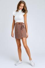 burnt orange wrap skirt