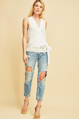 White Crossover Front Top