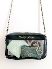 black clear crossbody purse