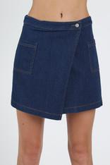 Denim Asymmetrical Skirt