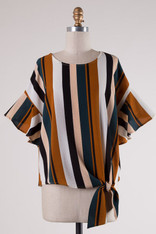 Striped Side Knot Top