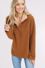 burnt orange pullover