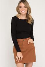 Burnt Orange Cotton Skirt