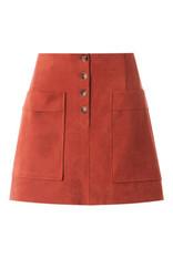 Burnt Orange Suede Skirt