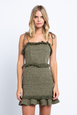 Olive Tie Strap Dress