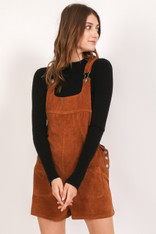 Burnt Orange Corduroy Overalls