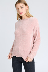 Light Pink Chenille Sweater
