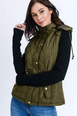Olive Hooded Vest