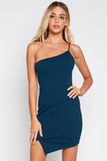 One Shoulder Asymetrical Hem Dress