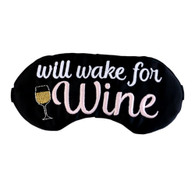 Will Wake For Wine Sleep Mask