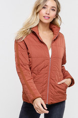Burnt Orange Quilted Jacket
