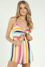 Multicolor Striped Romper