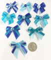 Shades of Blue Bows - 50 pack