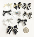 Shades of Black & White Bows - 50 Pack