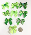 Shades of Green Bows - 50 pack