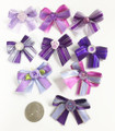 Shades of Purple Bows - 50 pack