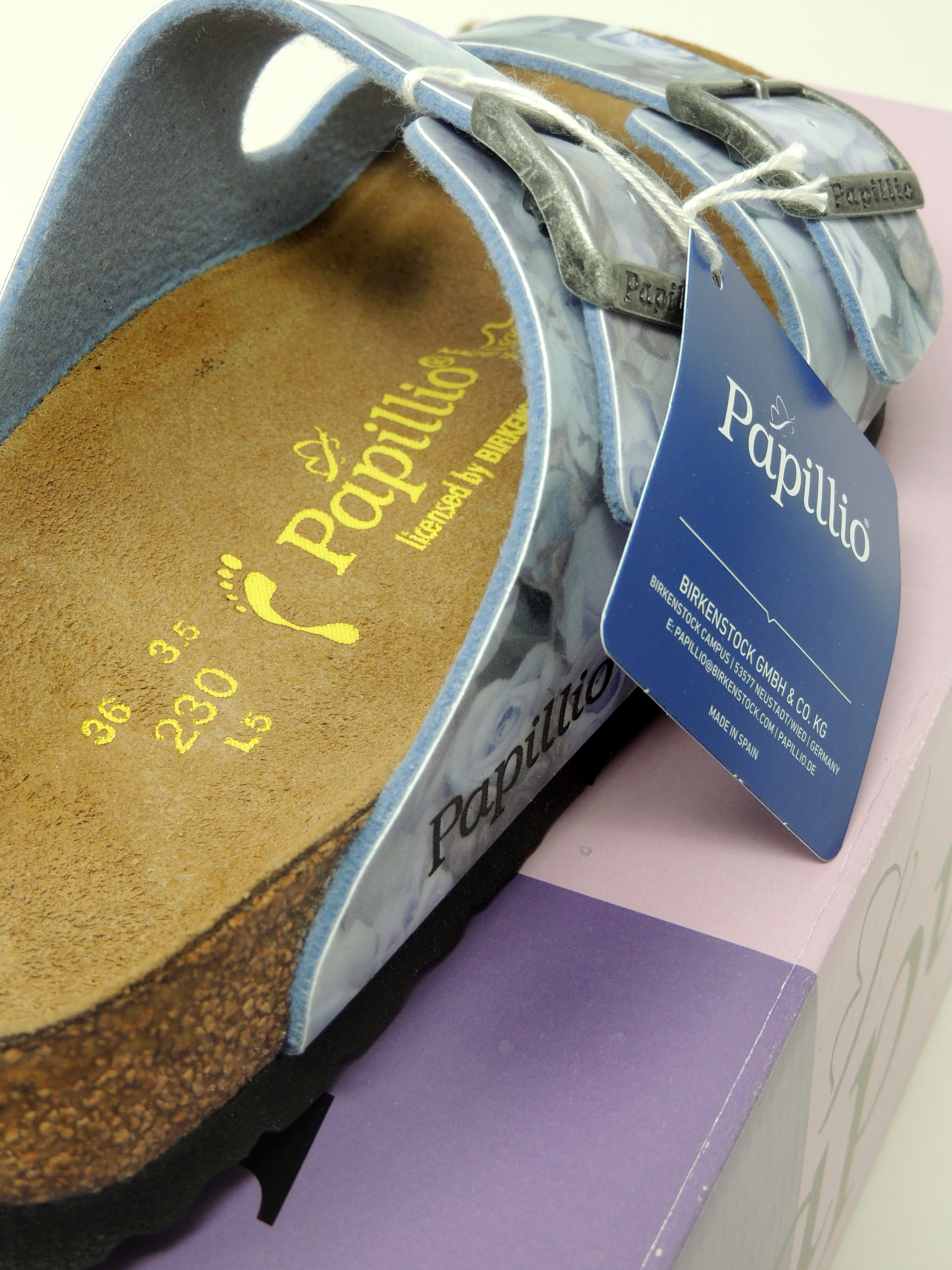 55d0fc022a98 Right  a Papillio sandal. See how the footbed looks different and where the  embossed