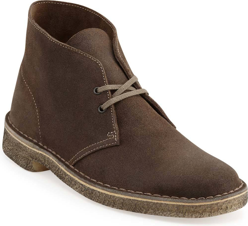 Clarks Men's Desert Boot in Taupe Distressed Suede
