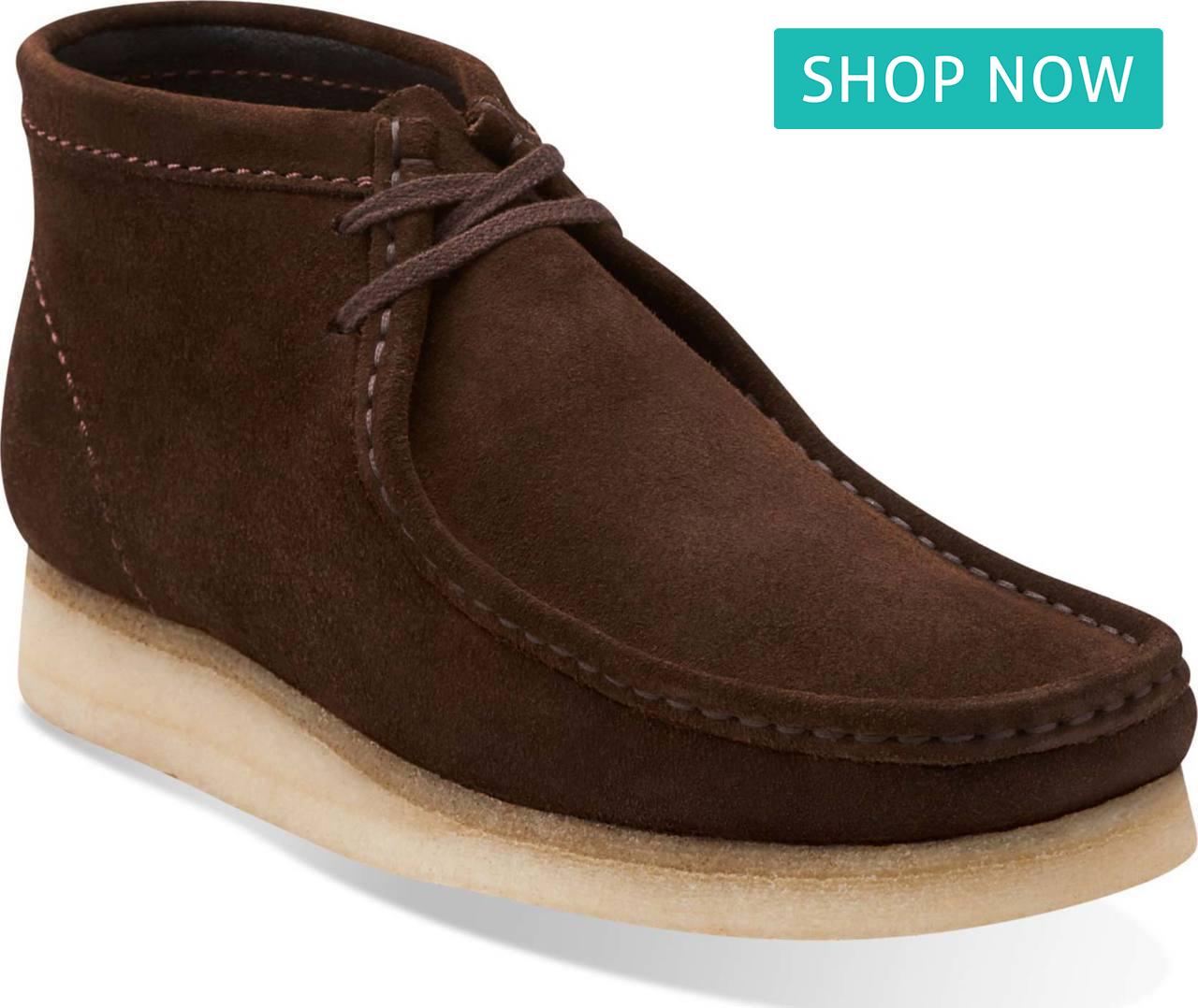 Clarks Men's Wallabee Boot in Brown Suede