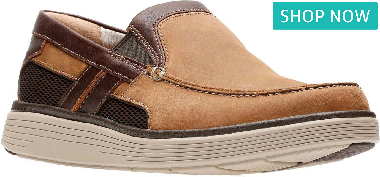 Clarks Men's Un Abode Free in Light Tan Leather