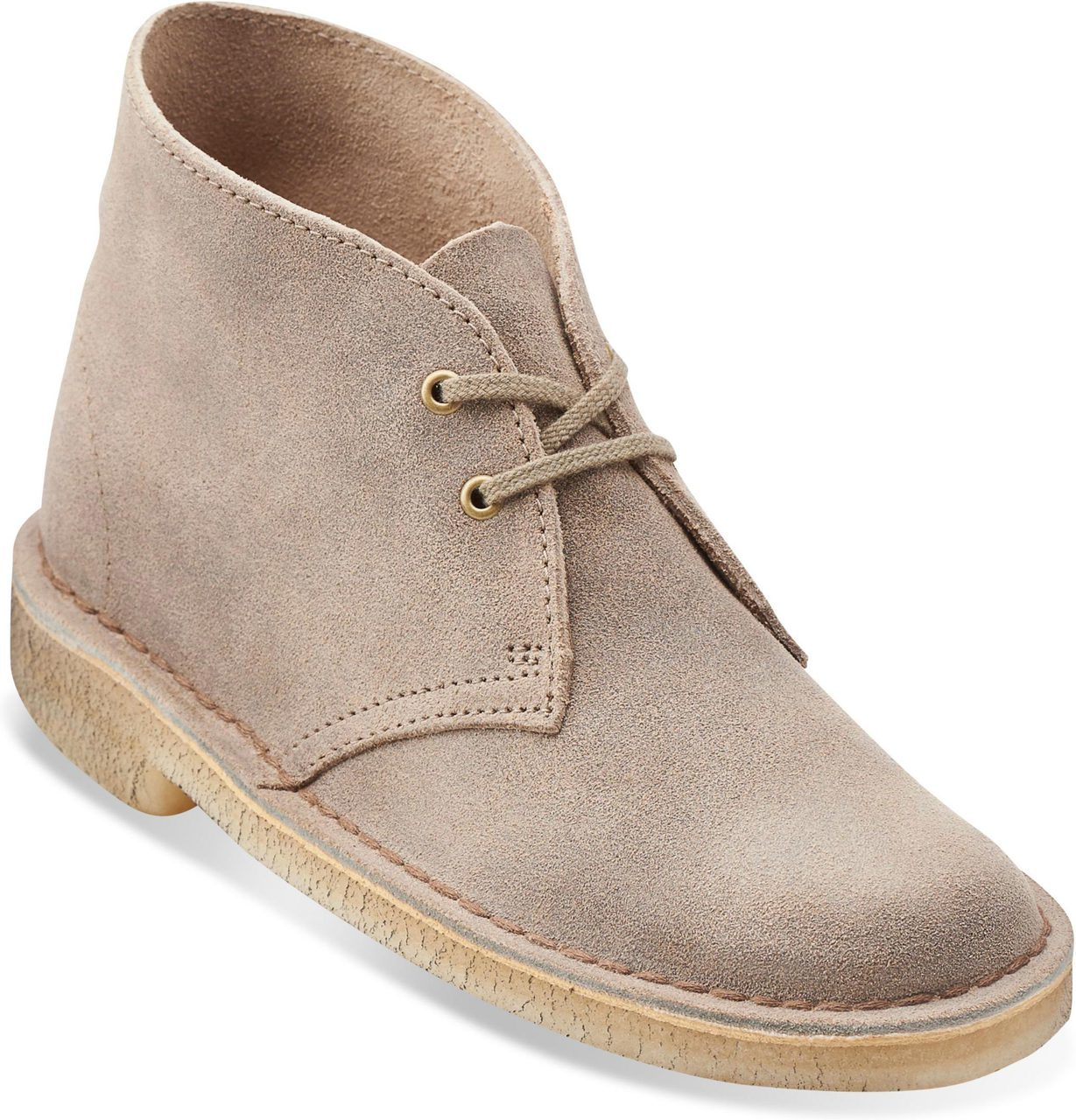 Clarks Women's Desert Boot in Taupe Distressed