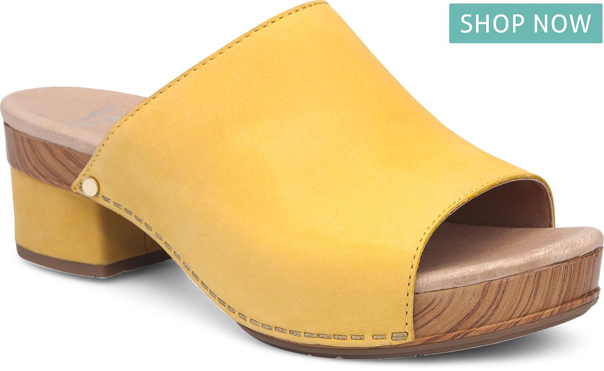 Dansko Maci in Yellow Milled Nubuck Leather
