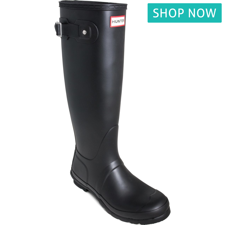 Hunter Women's Original Tall Rain Boot in Black