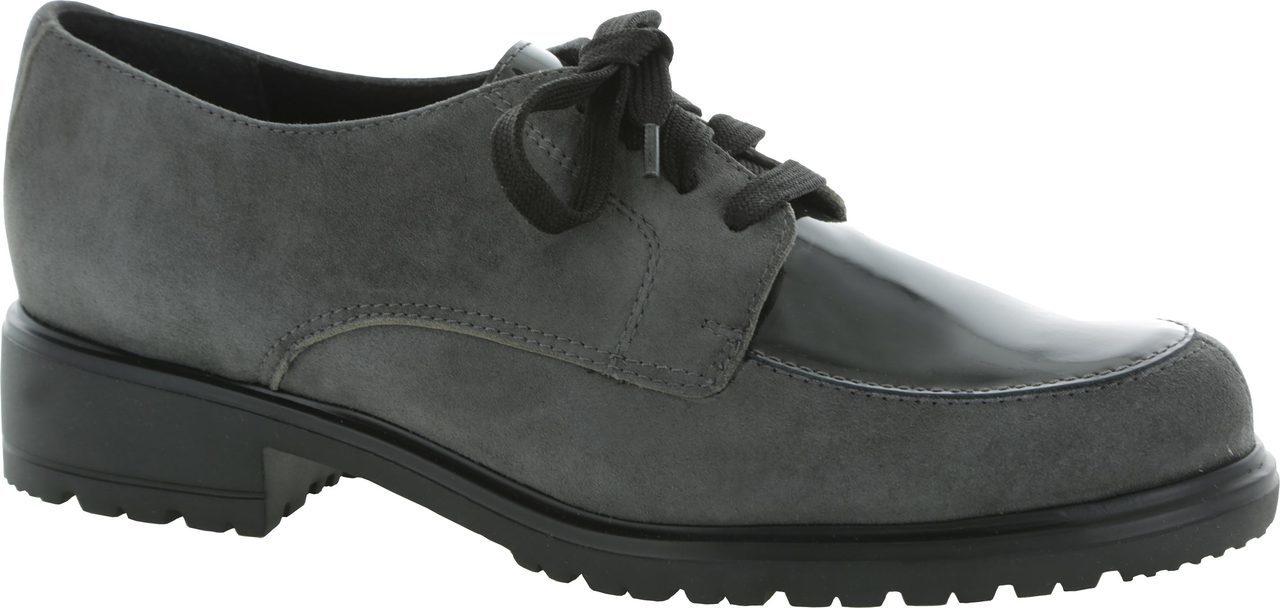 Munro Veranda in Grey Suede/Patent