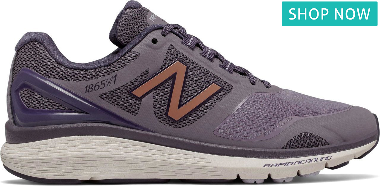 New Balance Women's 1865 in Strata with Elderberry/Thistle