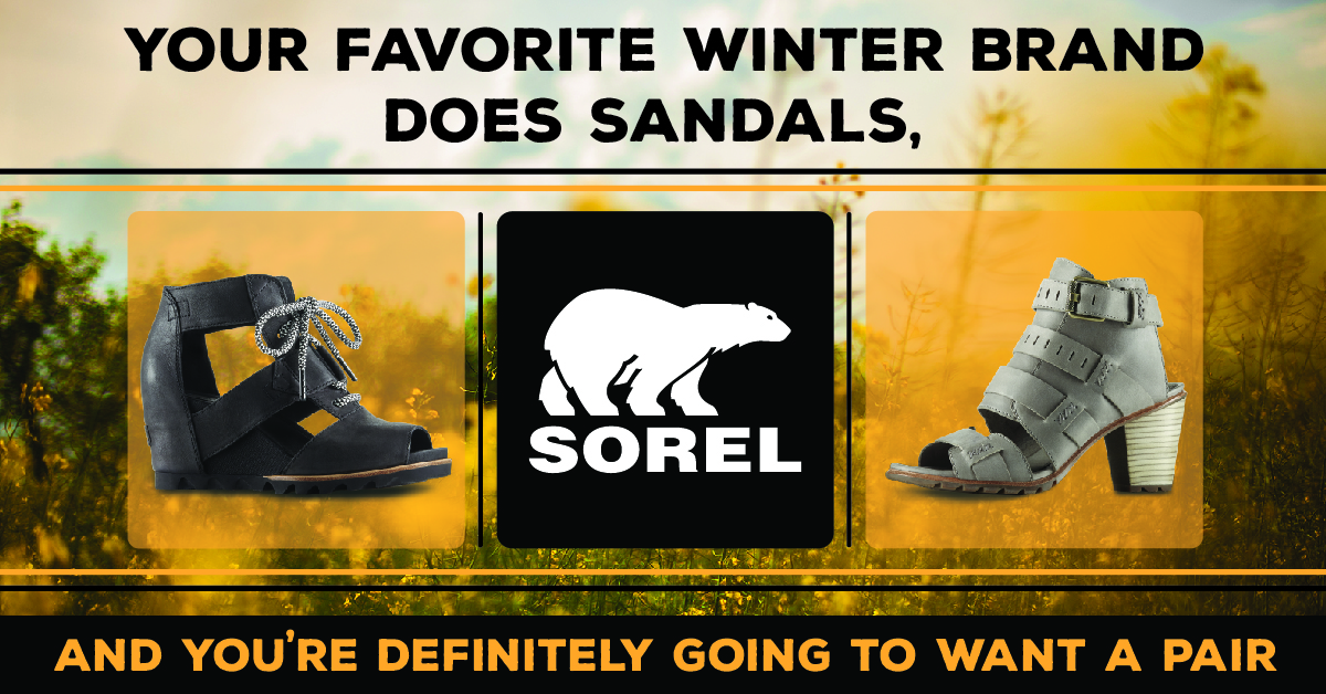 Sorel Does Sandals, Too!